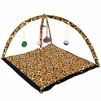 Kabalo Katze Aktivität Spielen Zelt Spielzeug Kätzchen Matte Faltbare Haustier Bett HängenDe Maus Ball Glocken