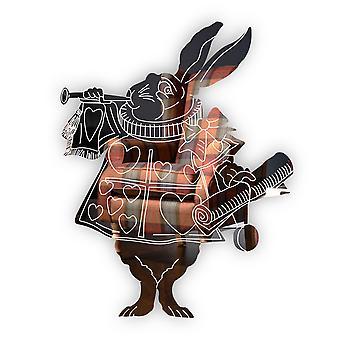 アリス不思議の国の元の白いウサギの彫刻アクリル ミラー