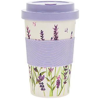 Purple Lavender Bamboo Travel Mug