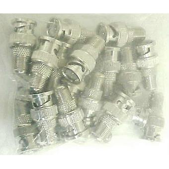 BNC Male to Coax F Female Adapter Plugs-Lot of 15