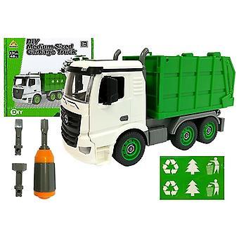 Ensemble de construction camion à ordures jouet