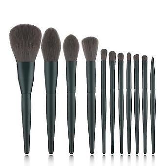 Makeup brushes wood handle face eye lip pink makeup brushes set eyebrow eyelash make up|eye shadow applicator