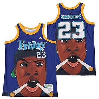 Men's Smokey #23 Basketball Jersey Sports T Shirt S-xxl,fashion 90s Hip Hop Clothing For Party, Stitched Letters And Numbers