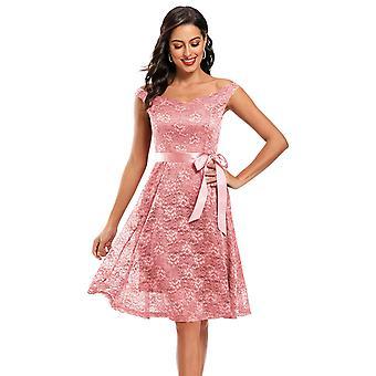 Women's Sleeveless Causal Slim Prom Dress