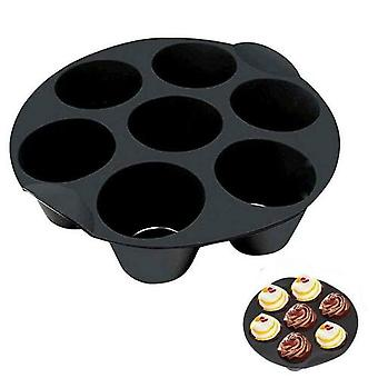 3 Pack Silicone Cake Cup Electric Air Fryer Backing Accessories Muffin Cake Basket Avec 7 trous