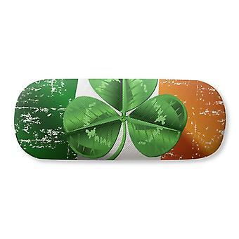 Irlande Trèfle Drapeau National Lunettes Vertes Case Lunettes Hard Shell Rangement Lunettes Boîte