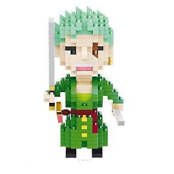 Caraele One Piecce Zoro Building Blocks Puzzle Micro 3d Figures Educational Brick Toys