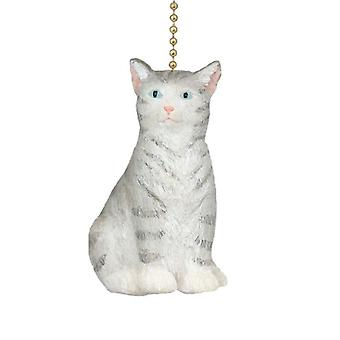 Purfect Feline Gray Kitty Cat Ceiling Fan Light Pull