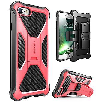 iPhone 7 caso-i-Blason-transformador [Kickstand] coldre Case(Pink)