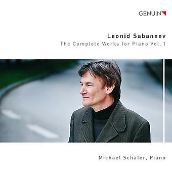 Sabaneev / Schafer, Michael - Sabaneev / Schafer, Michael: Complete Works for Piano 1 [CD] USA import