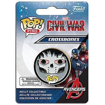 Funko Pop Pins: Bürgerkrieg - Crossbones USA import