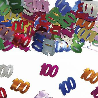 Tabela numer 100 konfetti ozdoba konfetti urodzinowe