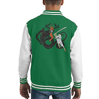 Slay Your Dragon Samuray Jack Kid's Varsity Ceket