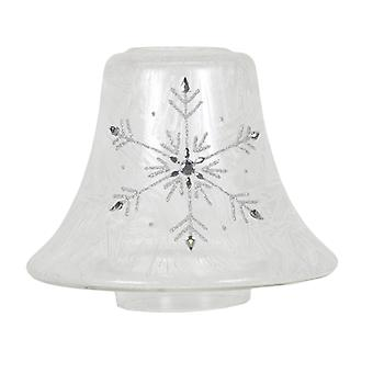 Aroma Frosted Snowflake Candle Jar Lamp