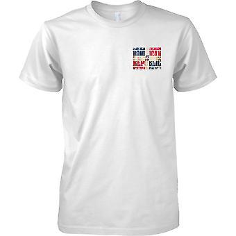 Den dominikanske republikk Grunge landet navn flagget effekt - barna brystet Design t-skjorte