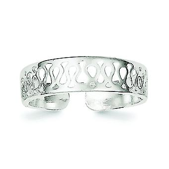 925 Sterling Silver Solid Toe Ring Jewely Gifts for Women - 1.4 Grams