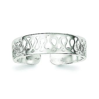 925 Sterling Sølv Solid Tå Ring Smykker Gaver til kvinner - 1,4 Gram