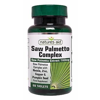 Natures Aid Saw Palmetto Complex for Men, 60 tablets. Suitable for Vegans.