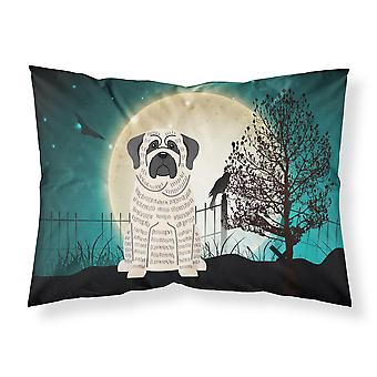 Halloween Scary Mastiff Brindle White Fabric Standard Pillowcase