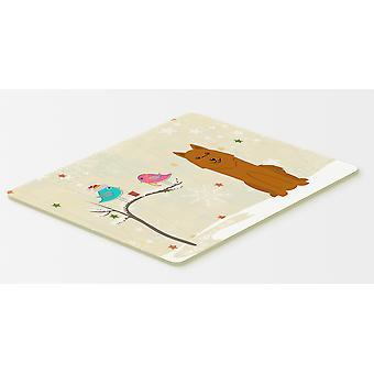 クリスマス プレゼント友達カレリア間熊犬キッチンやお風呂マット 20 x 30