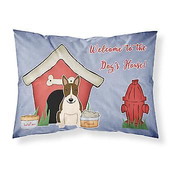 Dog House Collection Bull Terrier Dark Brindle Fabric Standard Pillowcase
