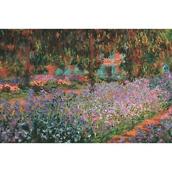 Die Künstler-Garten in Giverny 1900 Poster Kunstdruck von Claude Monet (36 x 24)