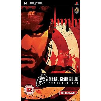 Metal Gear Solid Portable Ops PSP Game