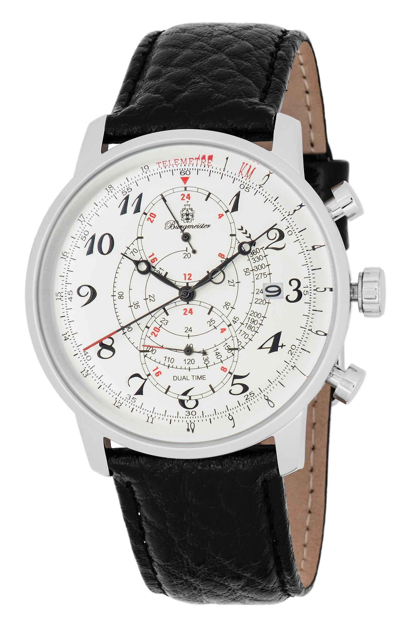 Burgmeister BM541-112 Temecula, Gents watch, Analogue display, Quartz with Citizen Movement - Water resistant, Stylish leather strap, Classic men's watch