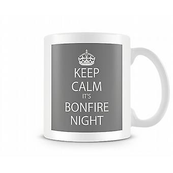 Blijf kalm het s A Bonfire Night bedrukte mok