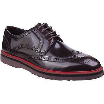 Lambretta Mens Compton Brogue Lace Up Smart Leather Oxford Shoes