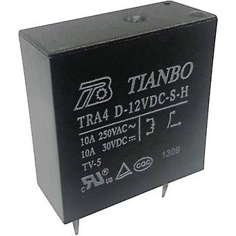 Tianbo Electronics TRA4 D-12VDC-S-H PCB relay 12 V DC 10 A 1 maker 1 pc(s)