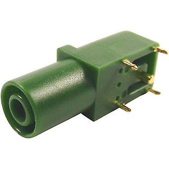 Cliff FCR7350G säkerhet jack socket Socket, rätt vinkel Pin diameter: 4 mm grön 1 dator