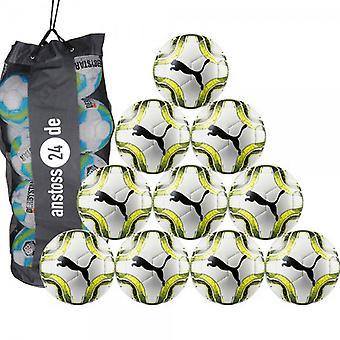 10 x PUMA młodzieży piłka - torba na piłki wraz z ostateczną Lite 350 g