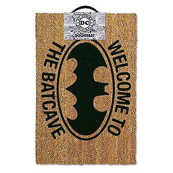 Batman welcome mat to the Batcave Brown, coconut fibre, bottom made of PVC.