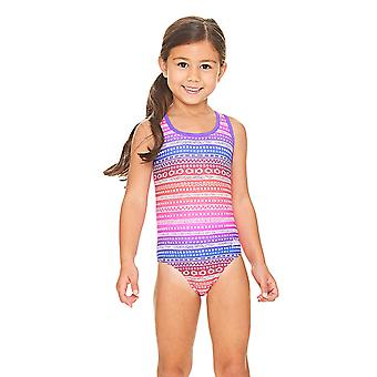 Zoggs Ikat Actionback Swimsuit Pink/Multi