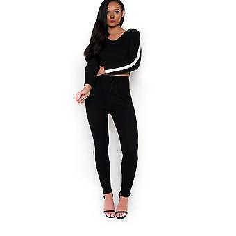 IKRUSH Womens Mila Striped Ribbed Co-Ord