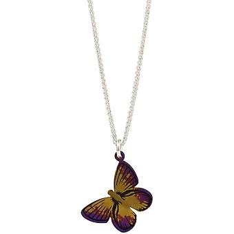 Ti2 Titanium Woodland Large Butterfly Pendant - Brown