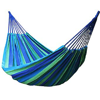 TRIXES Blue and Green Portable 2 Metre Outdoor Hammock Garden Camping Travel