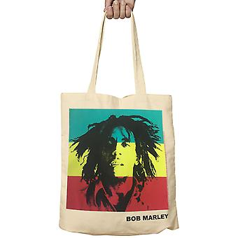 Official Bob Marley Tote Bag Rasta Portrait Logo Legend One Love new Fabric