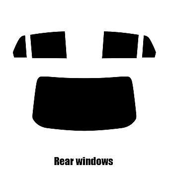 Pre cut window tint - Nissan Tiida 4-door Saloon - 2004 to 2012 - Rear windows