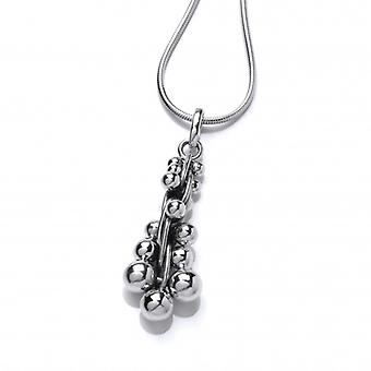 """Cavendish French Silver Peppercorn Pendant with 18-20"""" Silver Chain"""