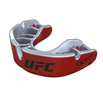 Protetor de boca de ouro de UFC OPro Metal vermelha/prata