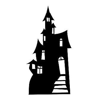 Kleine Haunted House (silhouet) (Halloween) grote kartonnen knipsel / Standee