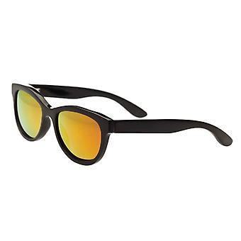 Bertha Carly buffel-hoorn gepolariseerde zonnebrillen - zwart/goud