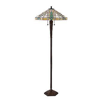 Stile Tiffany Lloyd Patina antica lampada da terra - interni 1900 70667