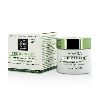 Apivita Bee Radiant Age Defense Illuminating Cream - Rich Texture - 50ml/1.76oz