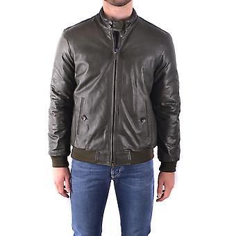 Jacob Cohen Ezbc054037 Herren's Grüne Leder Outerwear Jacke