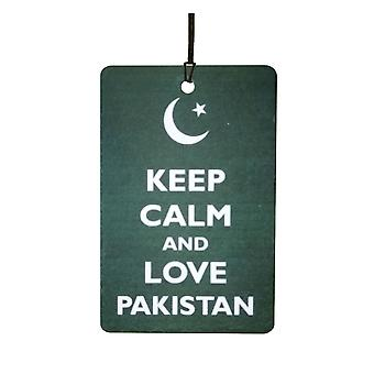 Keep Calm And Love Pakistan Car Air Freshener