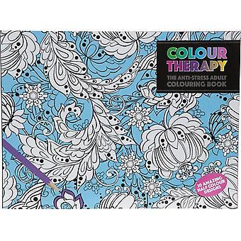 Kleur therapie anti-stress coloring boek 20s. Mandala, ontspannen.