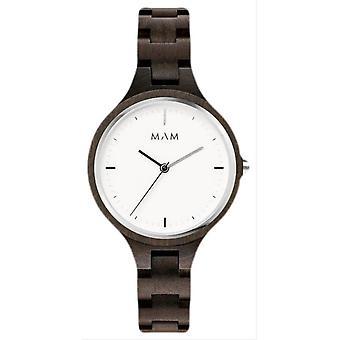 MAM Silt Watch - Dark Wood Brown/White